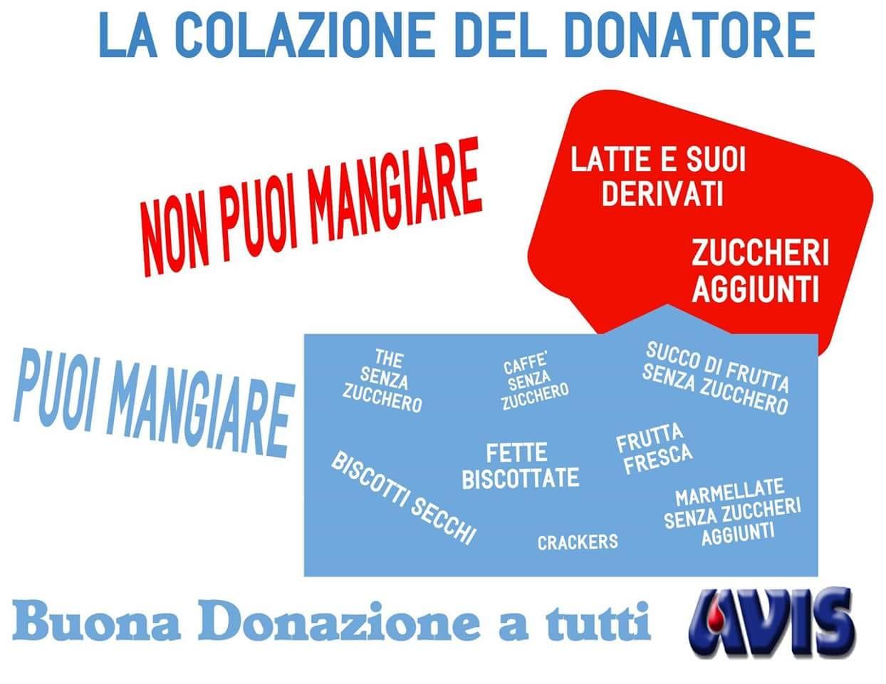 LA COLAZIONE DEL DONATORE!