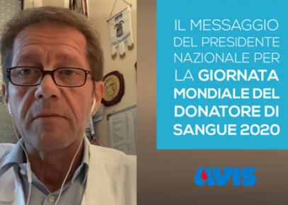 Giornata mondiale del donatore, il videomessaggio di ringraziamento del presidente Briola per il 14 giugno